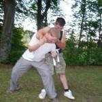 Verteidigung gegen Unterarmwürgen