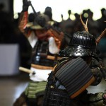 Samurai in in tra. Yoroi