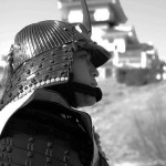 Samurai vor Himej Castle