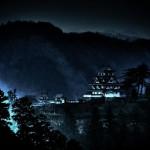 Osaka Castle bei Nacht