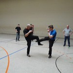 Training in Straßenkleidung